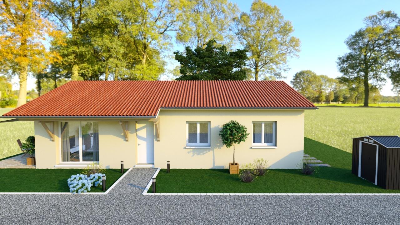 Maisons + Terrains du constructeur MAISONS AXIAL - BOURG EN BRESSE • 90 m² • SULIGNAT