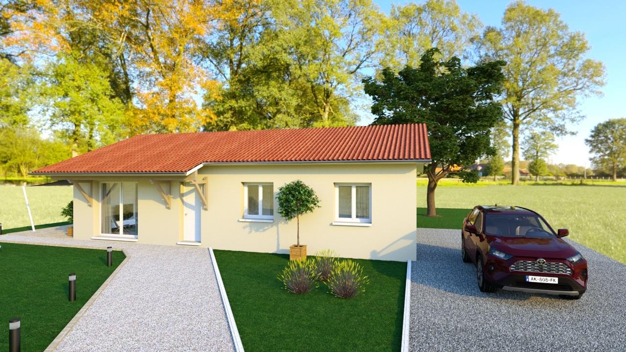 Maisons + Terrains du constructeur MAISONS AXIAL - BOURG EN BRESSE • 90 m² • VIRIAT