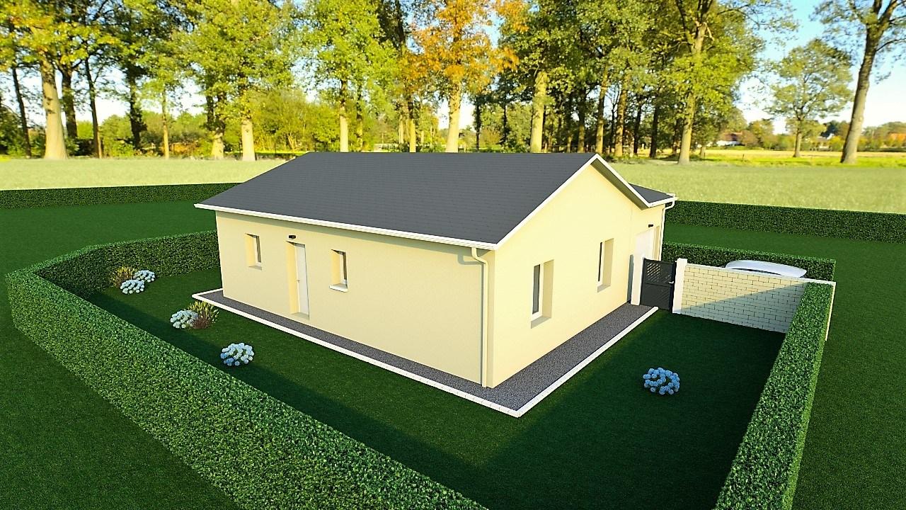 Maisons + Terrains du constructeur MAISONS AXIAL - BOURG EN BRESSE • 80 m² • PONT D'AIN