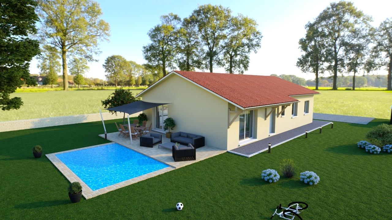 Maisons + Terrains du constructeur MAISONS AXIAL - BOURG EN BRESSE • 110 m² • FEILLENS
