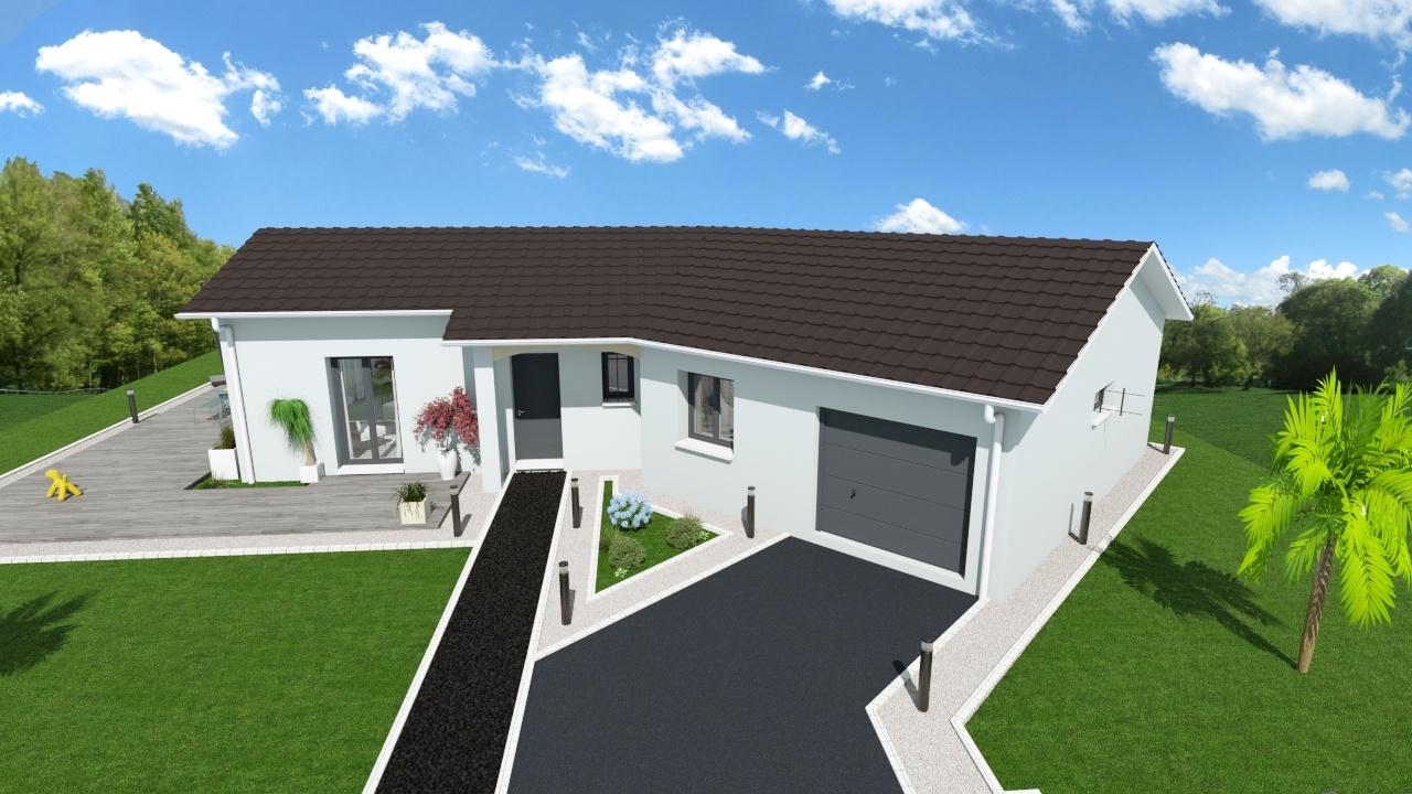 Maisons + Terrains du constructeur MAISONS AXIAL - BOURG EN BRESSE • 90 m² • CEYZERIAT