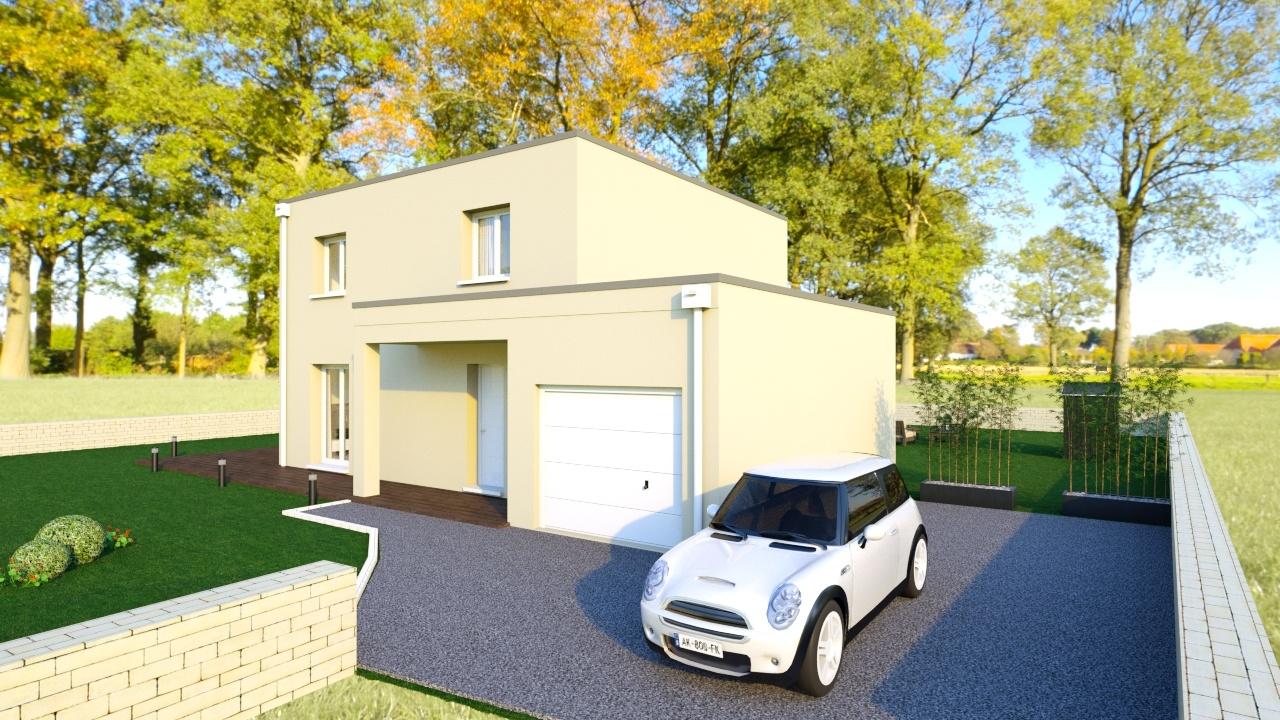 Maisons + Terrains du constructeur MAISONS AXIAL - BOURG EN BRESSE • 110 m² • VIRIAT
