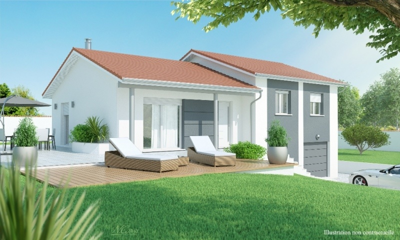 Maisons + Terrains du constructeur MAISONS AXIAL - BOURG EN BRESSE • 90 m² • SAINT ETIENNE DU BOIS