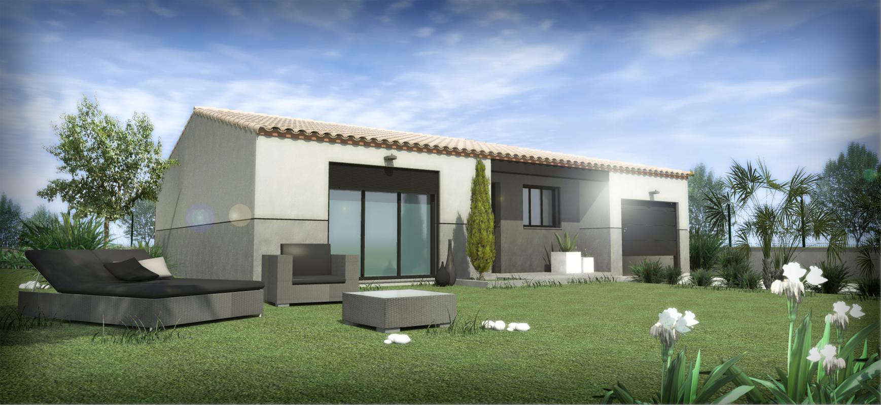 Maisons + Terrains du constructeur SM MAISON • 68 m² • CORBERE LES CABANES