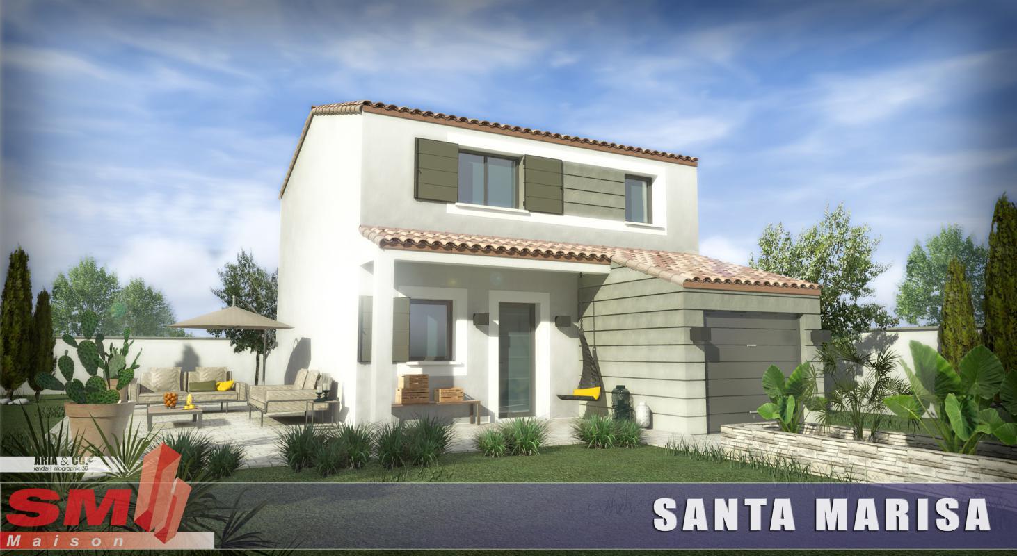 Maisons + Terrains du constructeur SM MAISON • 85 m² • CORBERE LES CABANES