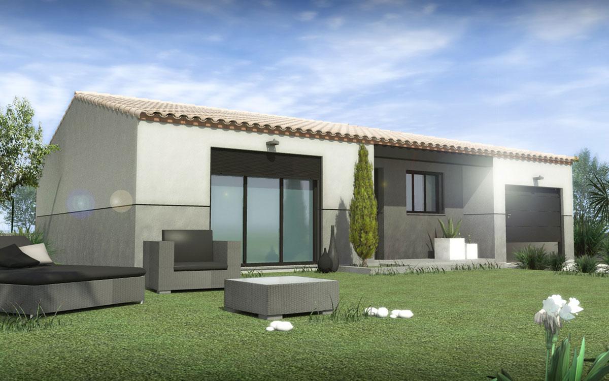 Maisons + Terrains du constructeur SM MAISON • 65 m² • CORBERE LES CABANES