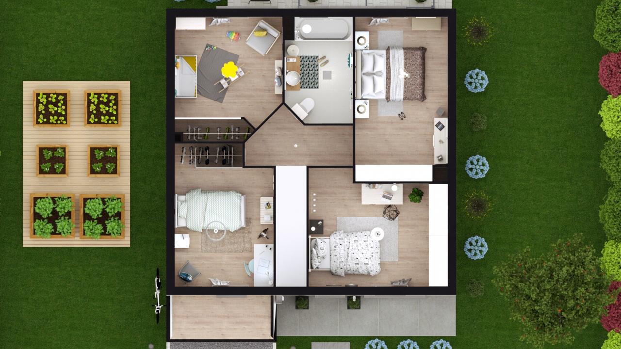 Maisons + Terrains du constructeur MAISONS LOGELIS • 89 m² • MELUN