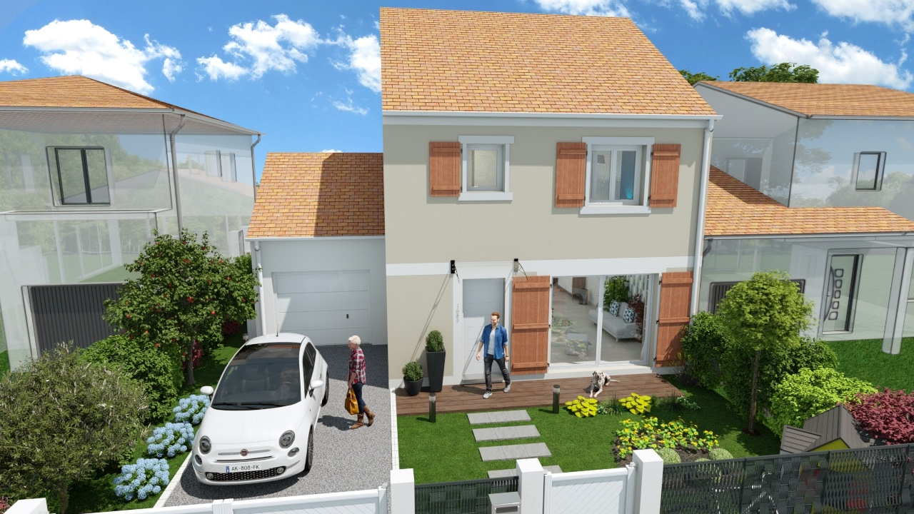 Maisons + Terrains du constructeur MAISONS LOGELIS - Agence d Arpajon • 90 m² • MONDEVILLE