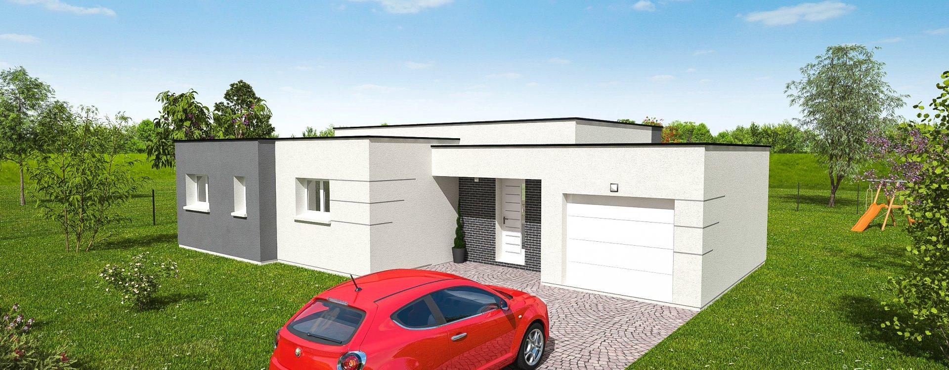 Maisons + Terrains du constructeur EASY HOUSE FRANCE • 79 m² • LE BARDON