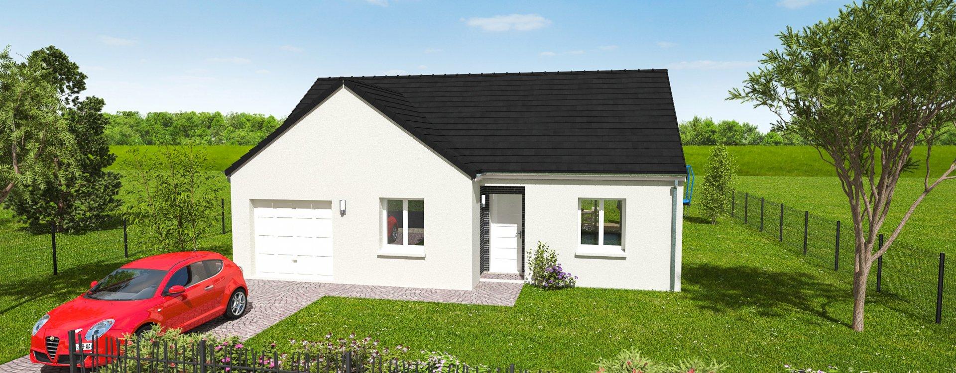 Maisons + Terrains du constructeur EASY HOUSE FRANCE • 75 m² • GIDY