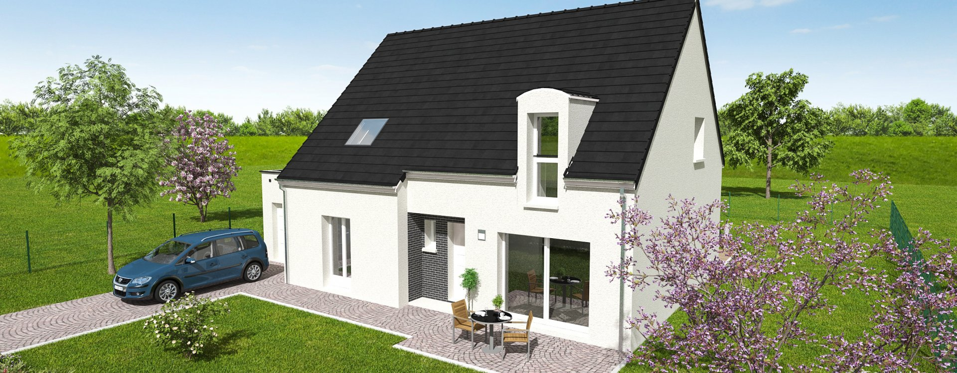 Maisons + Terrains du constructeur EASY HOUSE FRANCE • 145 m² • LA CHAPELLE SAINT MESMIN