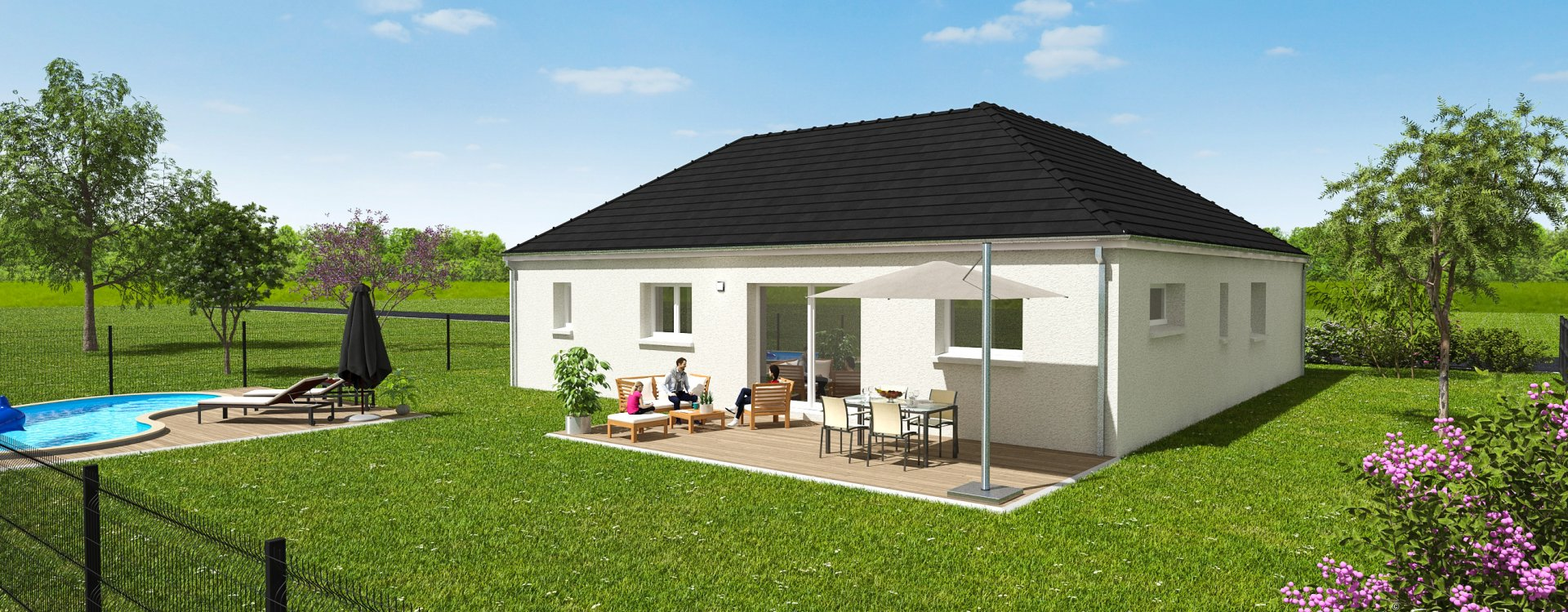 Maisons + Terrains du constructeur EASY HOUSE FRANCE • 107 m² • JOUY LE POTIER