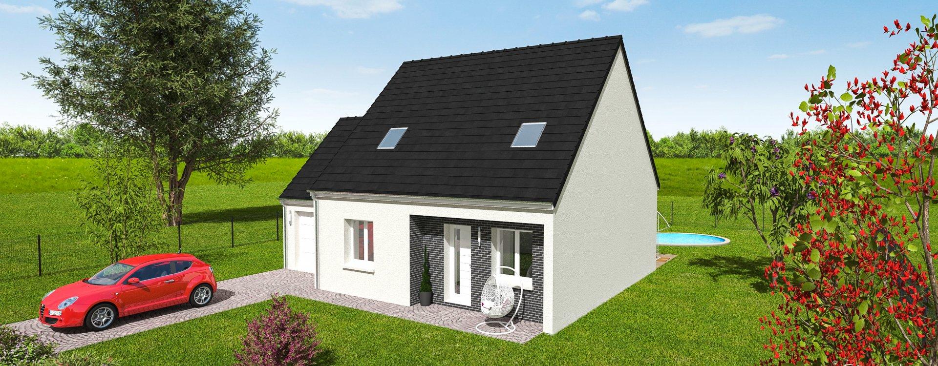 Maisons + Terrains du constructeur EASY HOUSE FRANCE • 59 m² • BEAUGENCY