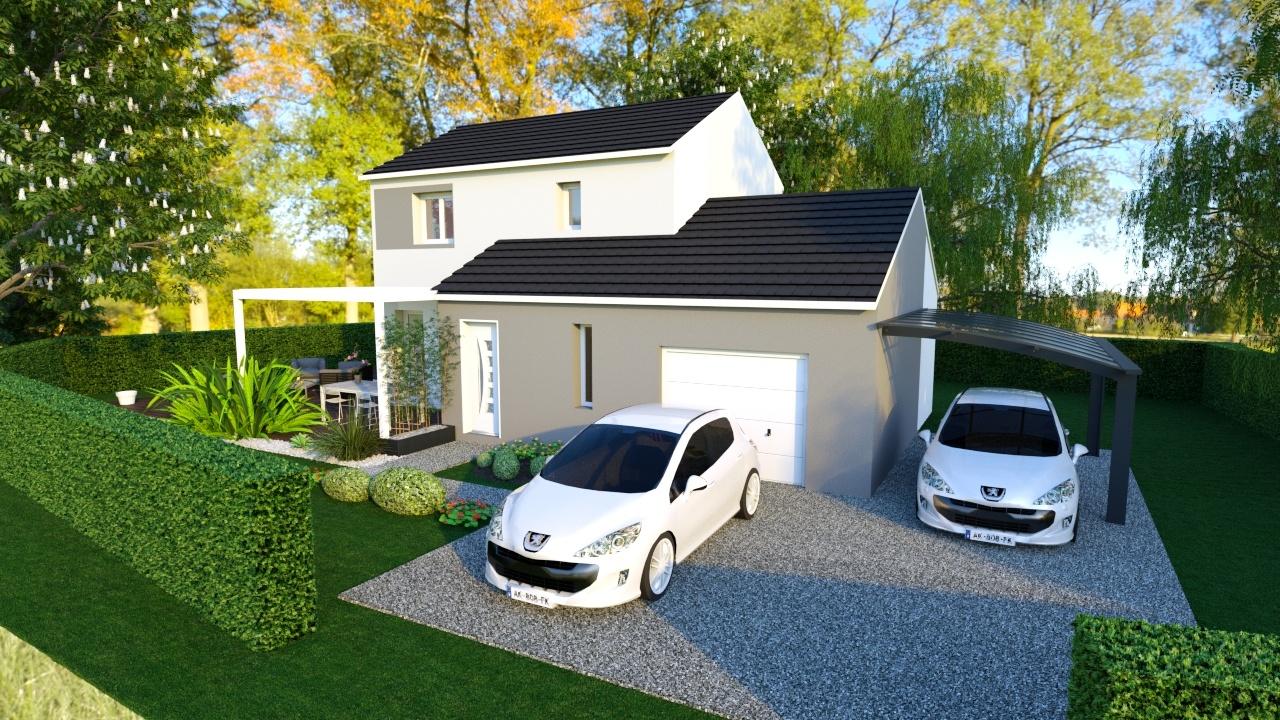 Maisons + Terrains du constructeur MAISONS PUNCH • 86 m² • MEREY VIEILLEY