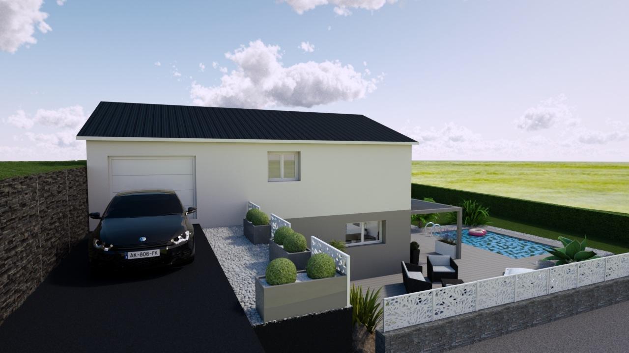 Maisons + Terrains du constructeur MAISONS PUNCH • 100 m² • EXINCOURT