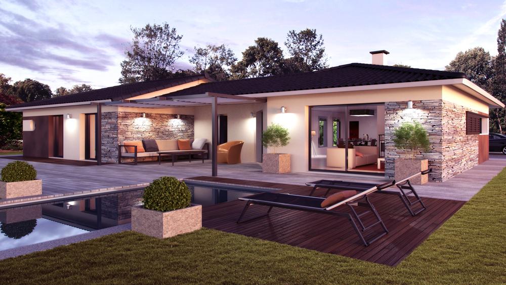 Maisons + Terrains du constructeur ALPHA CONSTRUCTIONS - AGENCE DE COUTRAS • 115 m² • BONZAC