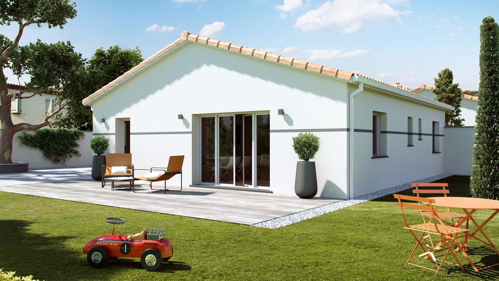 Maisons + Terrains du constructeur ALPHA CONSTRUCTIONS - AGENCE DE COUTRAS • 100 m² • LES ARTIGUES DE LUSSAC