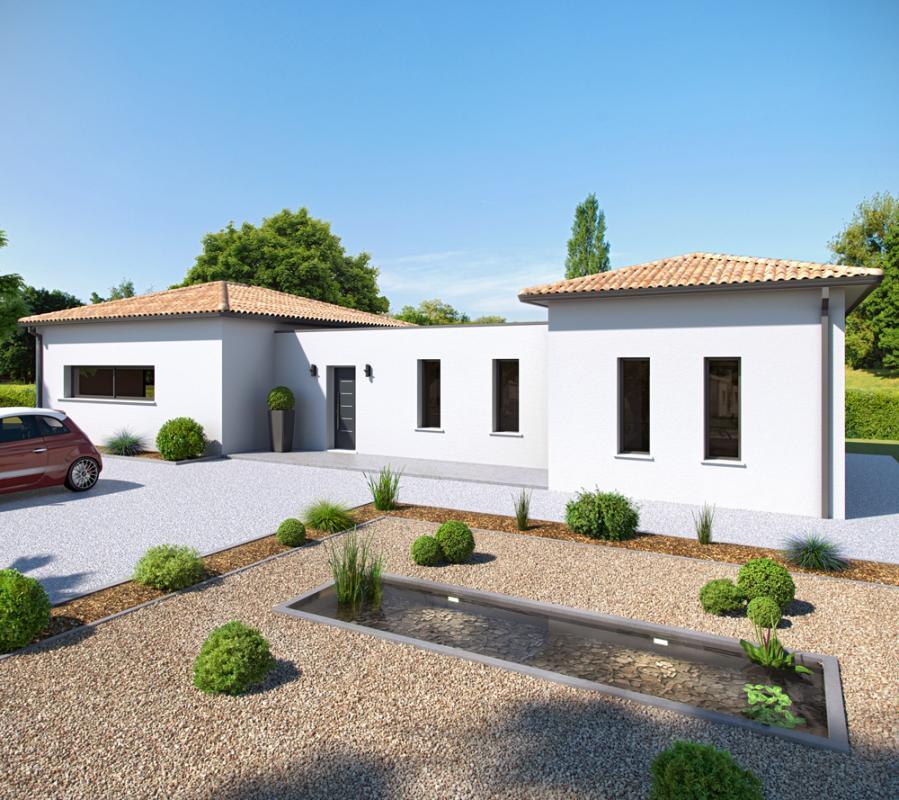 Maisons + Terrains du constructeur ALPHA CONSTRUCTIONS - AGENCE DE COUTRAS • 106 m² • COUTRAS