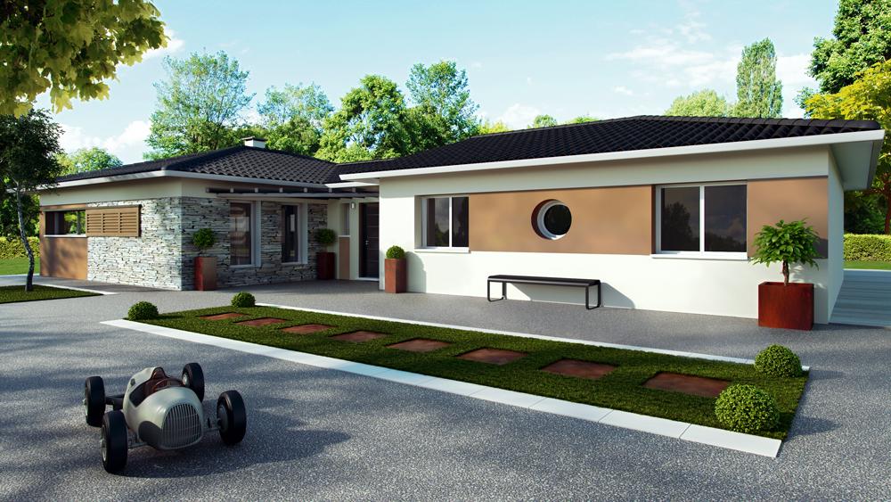 Maisons + Terrains du constructeur ALPHA CONSTRUCTIONS - AGENCE DE COUTRAS • 125 m² • SAINT EMILION