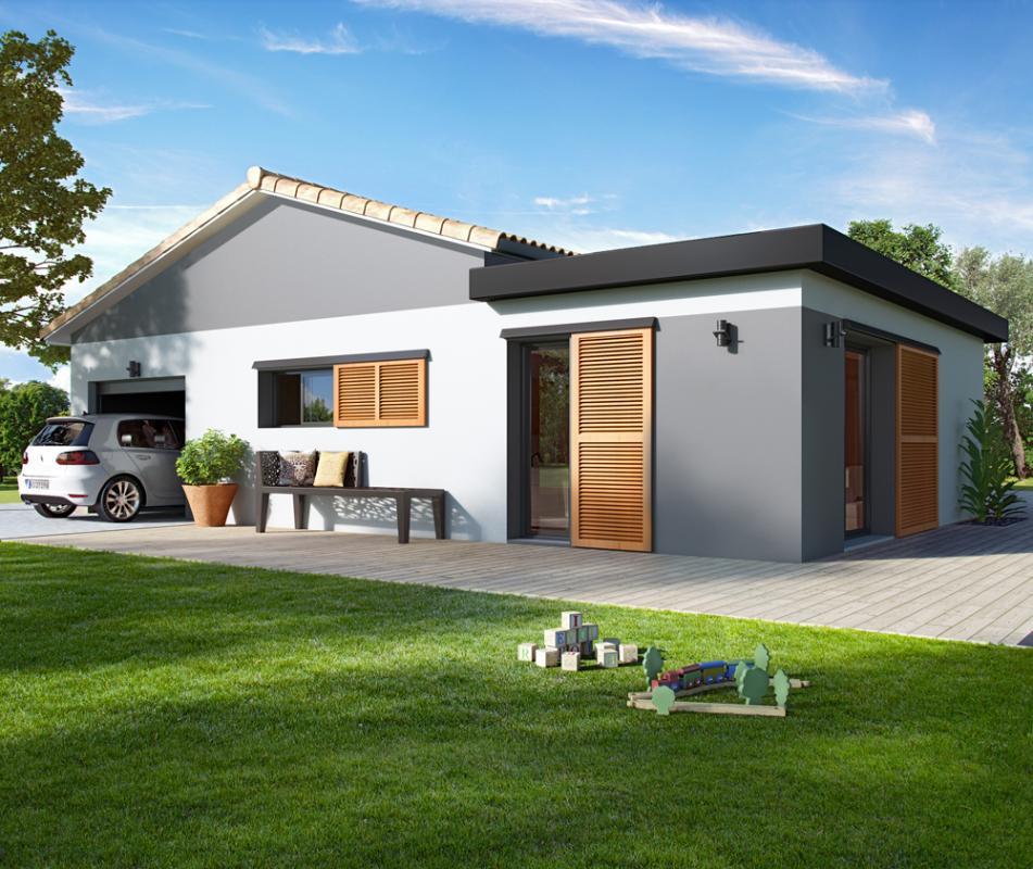 Maisons + Terrains du constructeur ALPHA CONSTRUCTIONS - GRADIGNAN • 100 m² • SAINT MEDARD D'EYRANS
