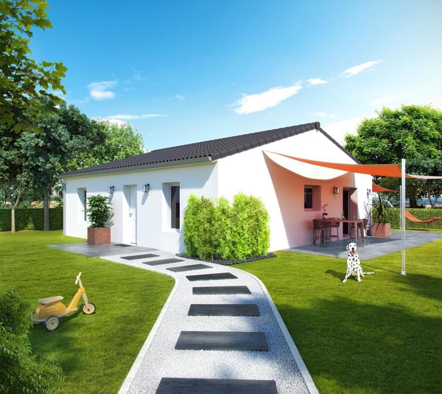 Maisons + Terrains du constructeur ALPHA CONSTRUCTIONS ST ANDRE DE CUBZAC • 80 m² • GAURIAC