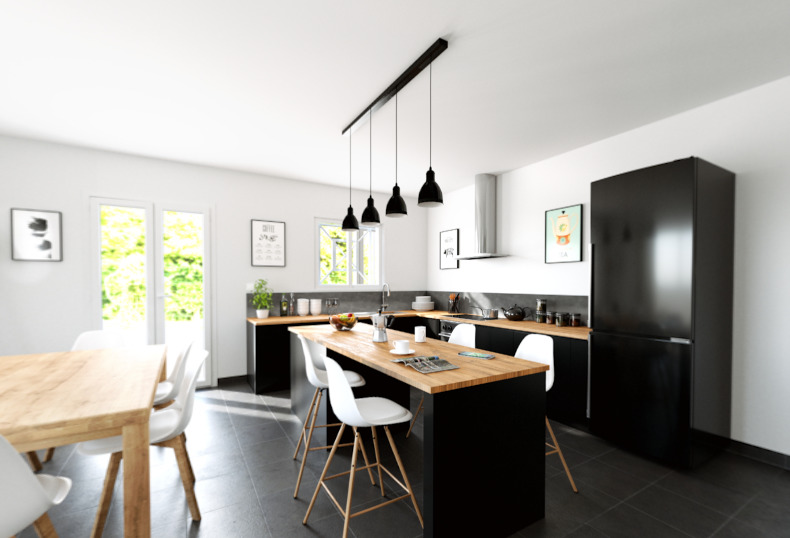 Maisons + Terrains du constructeur ALPHA CONSTRUCTIONS ST ANDRE DE CUBZAC • 90 m² • CUBZAC LES PONTS