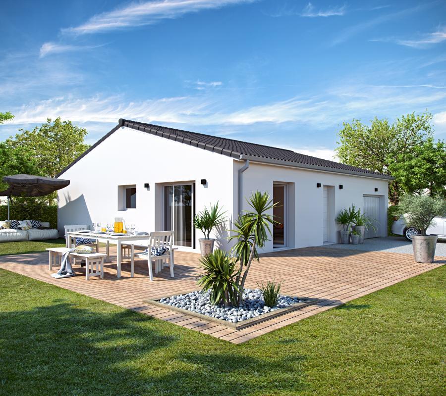 Maisons + Terrains du constructeur COULEUR VILLAS • 90 m² • CAMBLANES ET MEYNAC