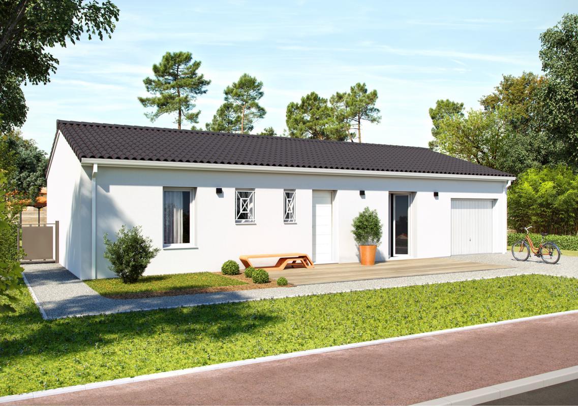 Maisons + Terrains du constructeur COULEUR VILLAS • 100 m² • GENISSAC