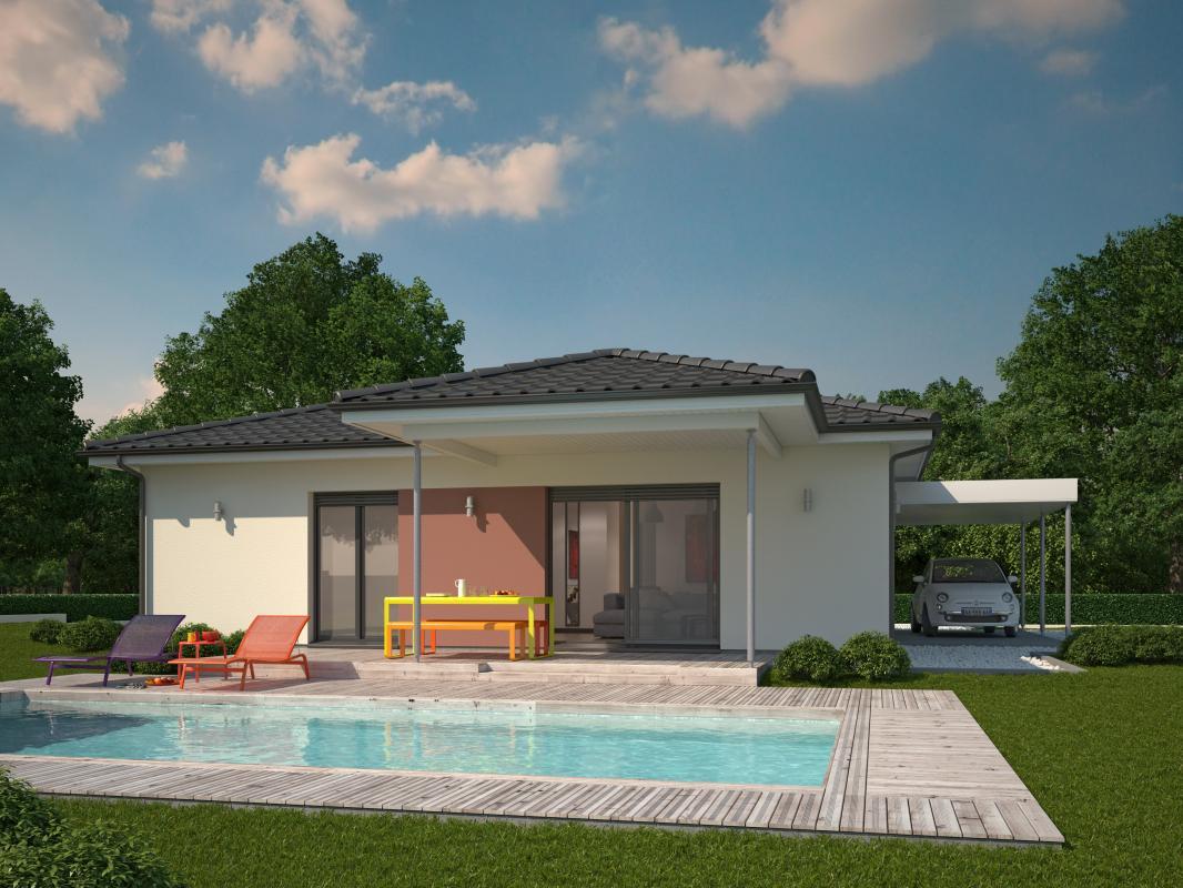 Maisons + Terrains du constructeur COULEUR VILLAS • 117 m² • GENISSAC