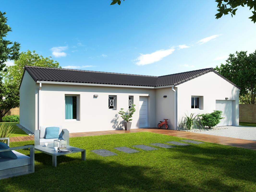Maisons + Terrains du constructeur COULEUR VILLAS • 90 m² • LUGOS
