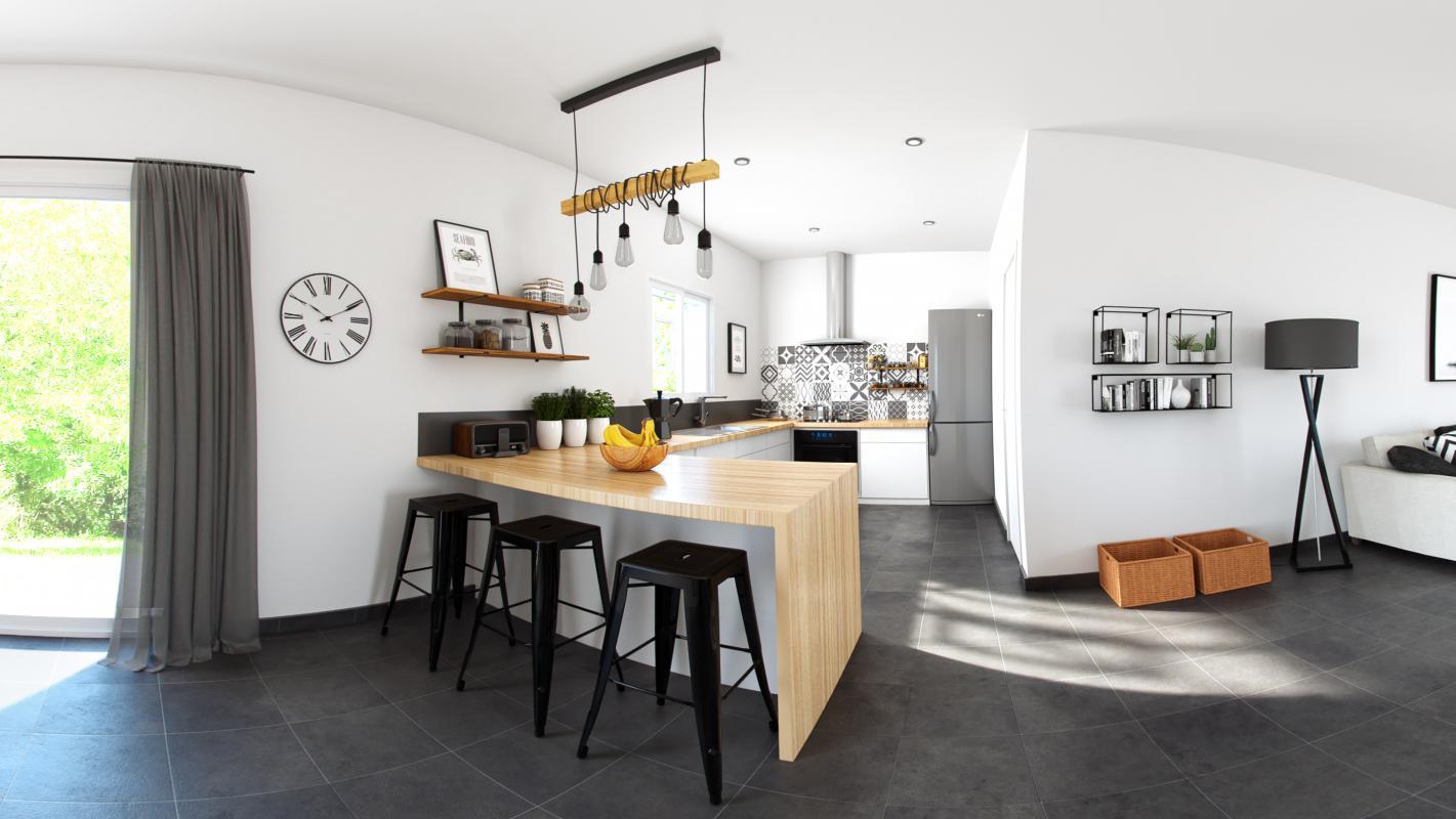 Maisons + Terrains du constructeur COULEUR VILLAS - AGENCE BLANQUEFORT • 90 m² • GAILLAN EN MEDOC