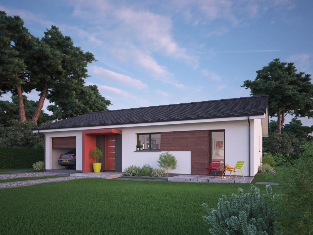 Maisons + Terrains du constructeur COULEUR VILLAS - AGENCE BLANQUEFORT • 90 m² • BERSON