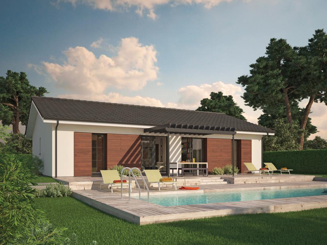 Maisons + Terrains du constructeur COULEUR VILLAS - AGENCE BLANQUEFORT • 80 m² • CANTENAC