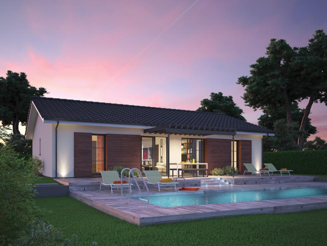 Maisons + Terrains du constructeur COULEUR VILLAS LA TESTE DE BUCH • 90 m² • LA TESTE DE BUCH
