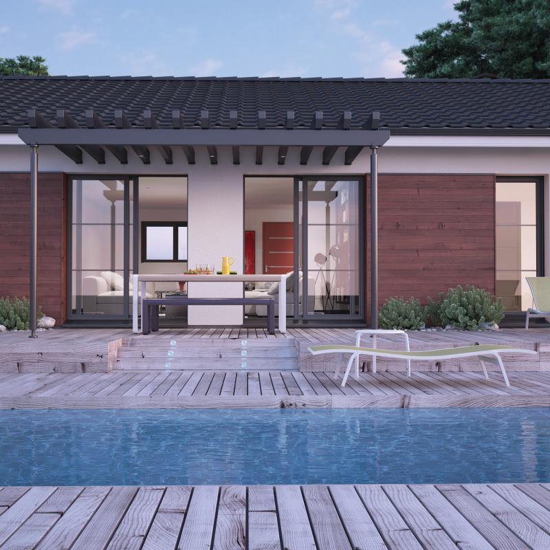 Maisons + Terrains du constructeur COULEUR VILLAS LA TESTE DE BUCH • 90 m² • MIMIZAN