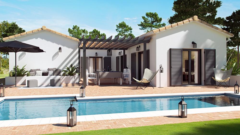 Maisons + Terrains du constructeur COULEUR VILLAS • 114 m² • LEON