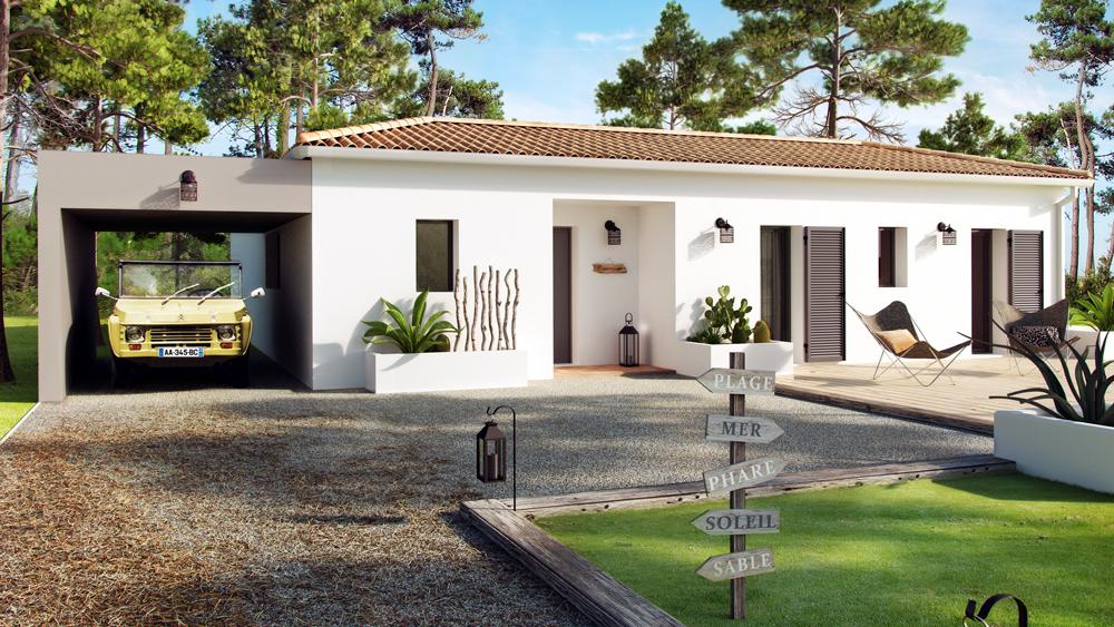 Maisons + Terrains du constructeur COULEUR VILLAS • 107 m² • TOSSE