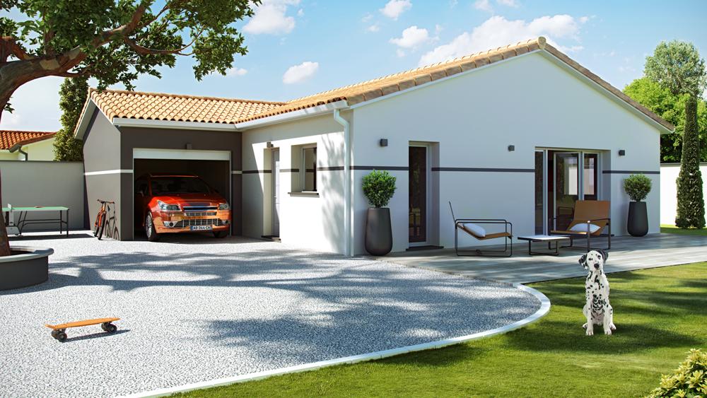 Maisons + Terrains du constructeur ALPHA CONSTRUCTIONS - AGENCE DE ANDERNOS • 80 m² • CADAUJAC