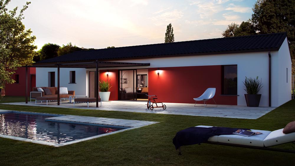 Maisons + Terrains du constructeur ALPHA CONSTRUCTIONS HOMEXPO BORDEAUX PANAMA • 90 m² • SALAUNES