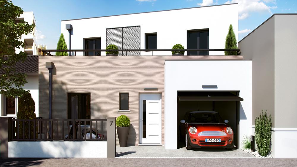 Maisons + Terrains du constructeur ALPHA CONSTRUCTIONS HOMEXPO BORDEAUX PANAMA • 95 m² • MERIGNAC