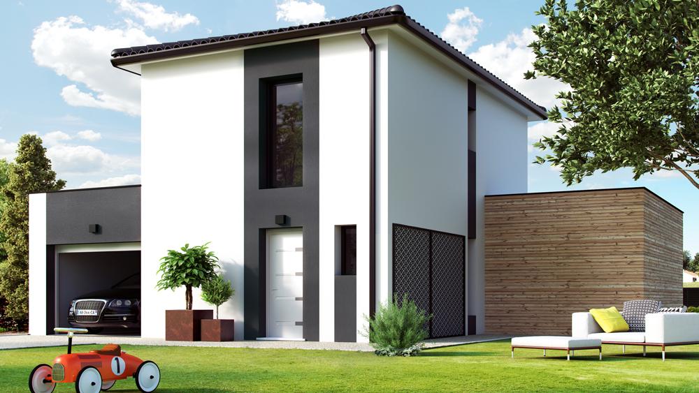 Maisons + Terrains du constructeur ALPHA CONSTRUCTIONS HOMEXPO BORDEAUX PANAMA • 86 m² • SAINT JEAN D'ILLAC