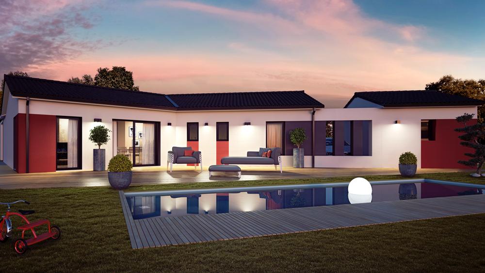 Maisons + Terrains du constructeur ALPHA CONSTRUCTIONS ST LOUBES • 100 m² • SAINT SULPICE ET CAMEYRAC