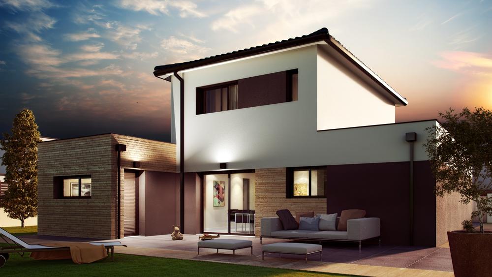 Maisons + Terrains du constructeur ALPHA CONSTRUCTIONS ST LOUBES • 87 m² • MOULON