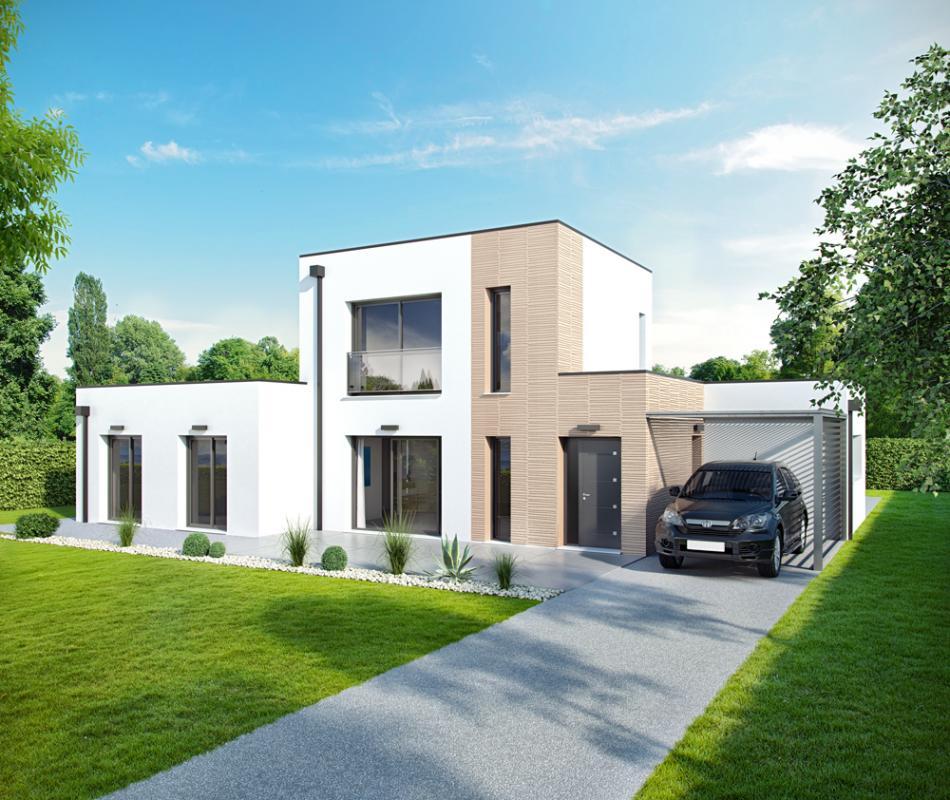Maisons + Terrains du constructeur ALPHA CONSTRUCTIONS ST LOUBES • 110 m² • BEYCHAC ET CAILLAU