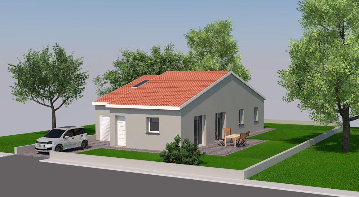 Maisons + Terrains du constructeur TRADIMAISONS • 90 m² • AULNAT