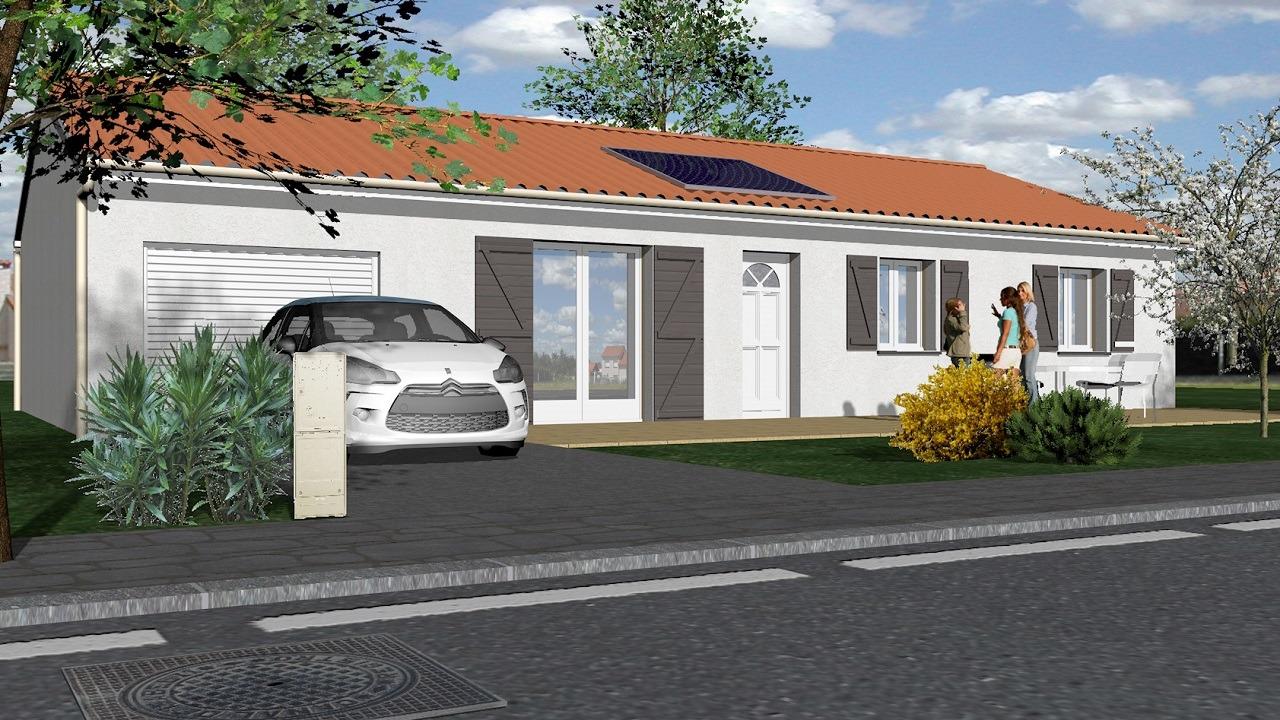 Maisons + Terrains du constructeur TRADIMAISONS • 86 m² • SAINT GENES CHAMPANELLE