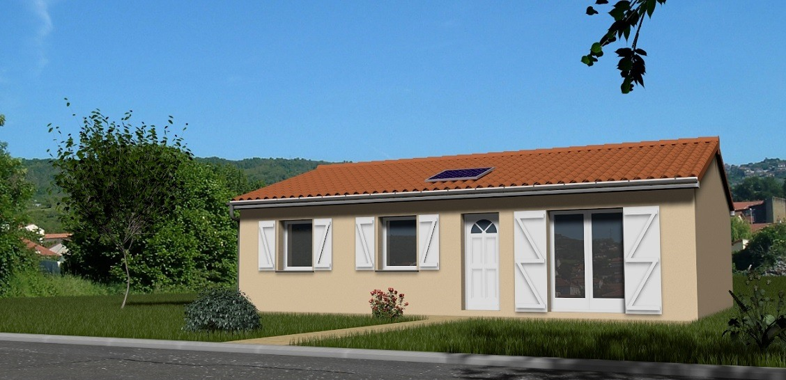 Maisons + Terrains du constructeur TRADIMAISONS • 85 m² • SAINT GENES CHAMPANELLE