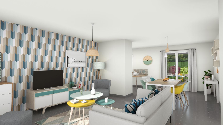 Maisons + Terrains du constructeur LES DEMEURES REGIONALES • 90 m² • BEAUREGARD VENDON