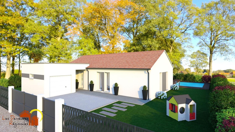 Maisons + Terrains du constructeur LES DEMEURES REGIONALES • 90 m² • GUEUGNON