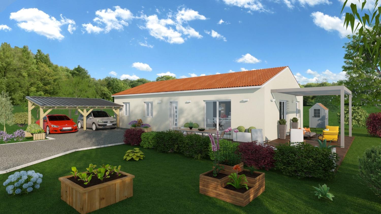 Maisons + Terrains du constructeur LES DEMEURES REGIONALES • 97 m² • BRUGHEAS